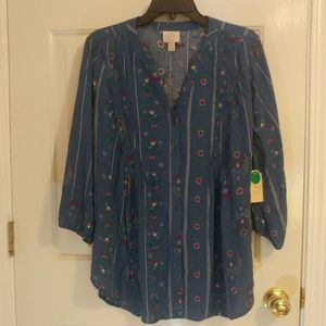 Loose, Printed Blouse by St. John's Bay